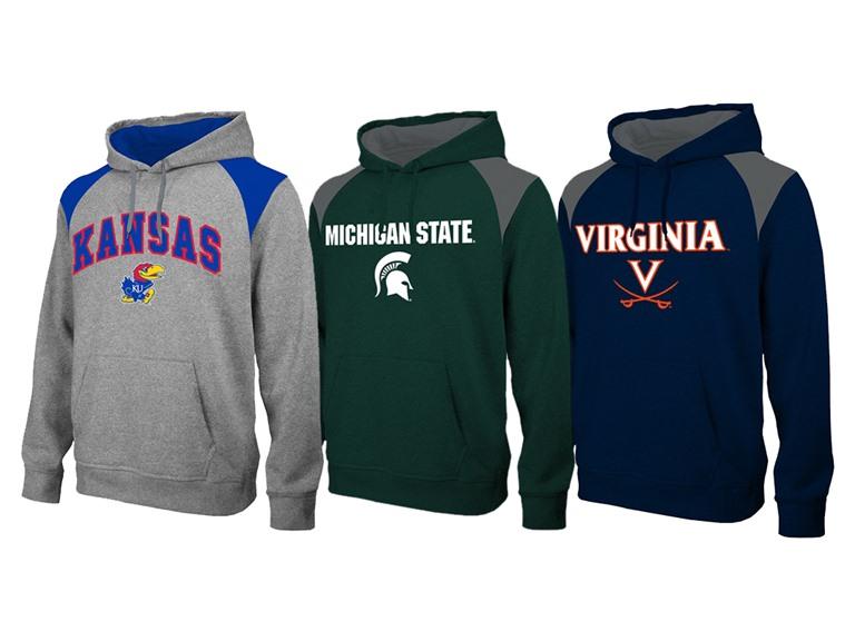Men's NCAA Men's Polyfleece Hoodies (various teams) $19.99 + $5 Flat-Rate S/H or Free Ship w/ Prime