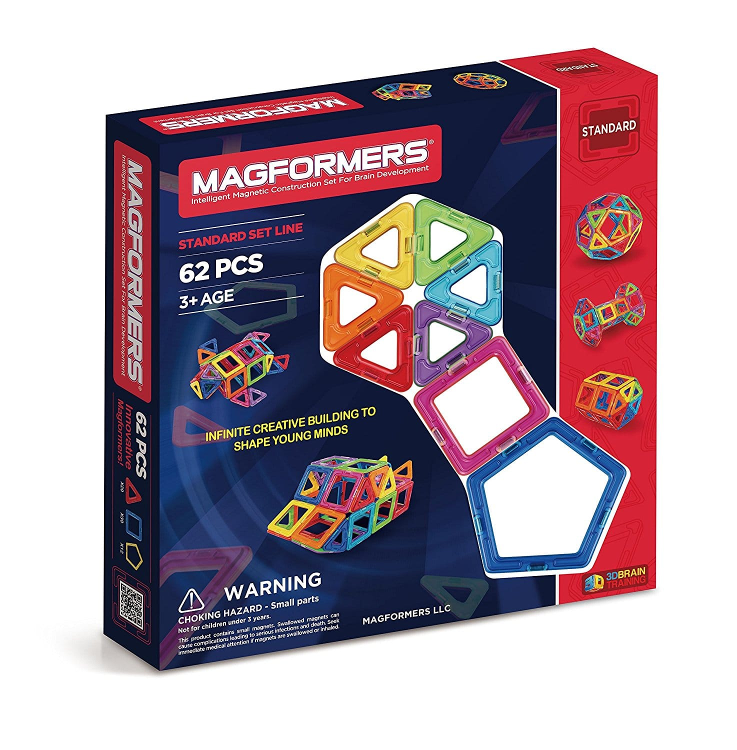 62-Piece Magformers Magnetic Construction Set (63070) $39.99 + $5 Flat-Rate S/H or Free Ship w/ Prime