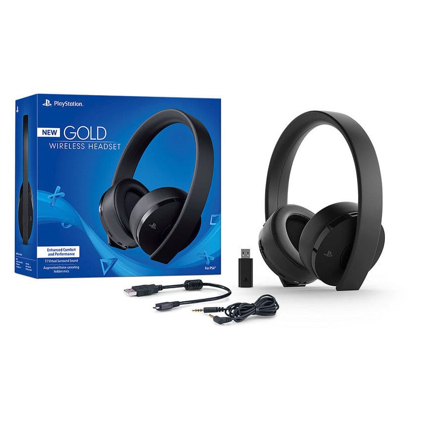 sony playstation gold wireless 7 1 headset ps4 2018. Black Bedroom Furniture Sets. Home Design Ideas