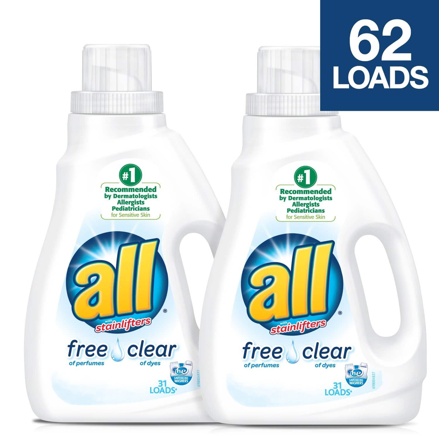 2-Pack 46 5oz  All Liquid Laundry Detergent (Free Clear