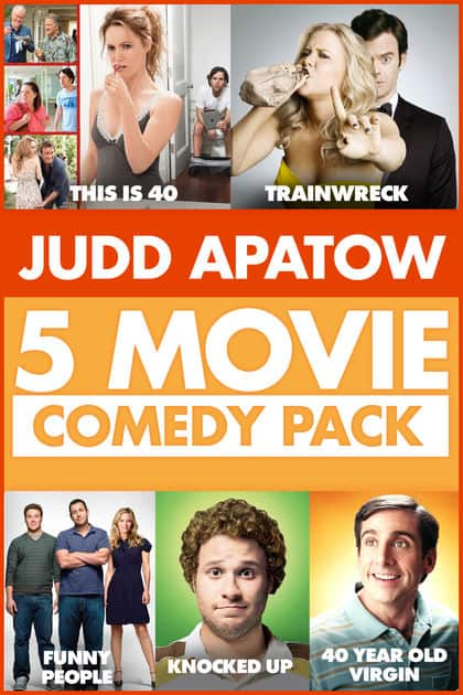 Judd Apatow 5 Movie Comedy Pack: The 40 Year Old Virgin, Knocked Up, Funny People, Trainwreck, This Is 40 (Digital HD Download) $19.99 via iTunes
