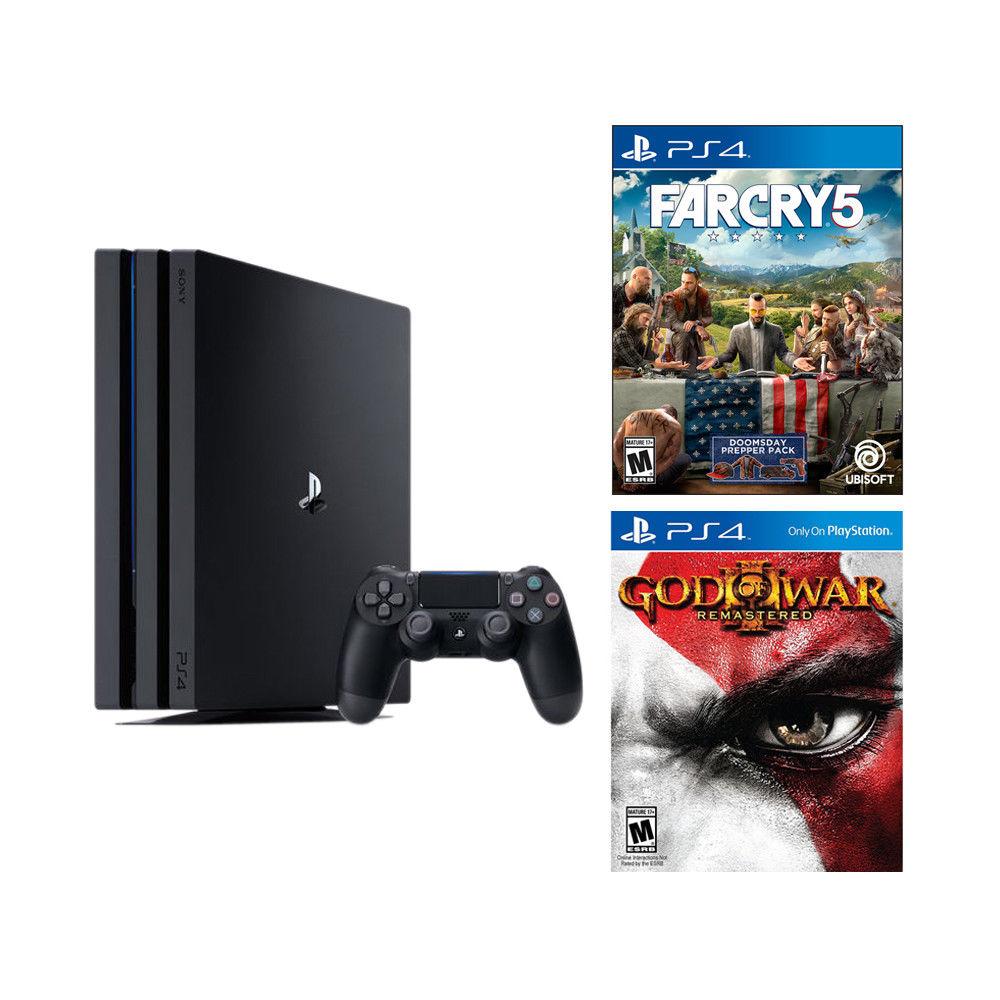 1TB Sony PlayStation 4 Pro Console + Far Cry 5 & God of War III: Remastered (PS4) $349.99 + Free Shipping via eBay App