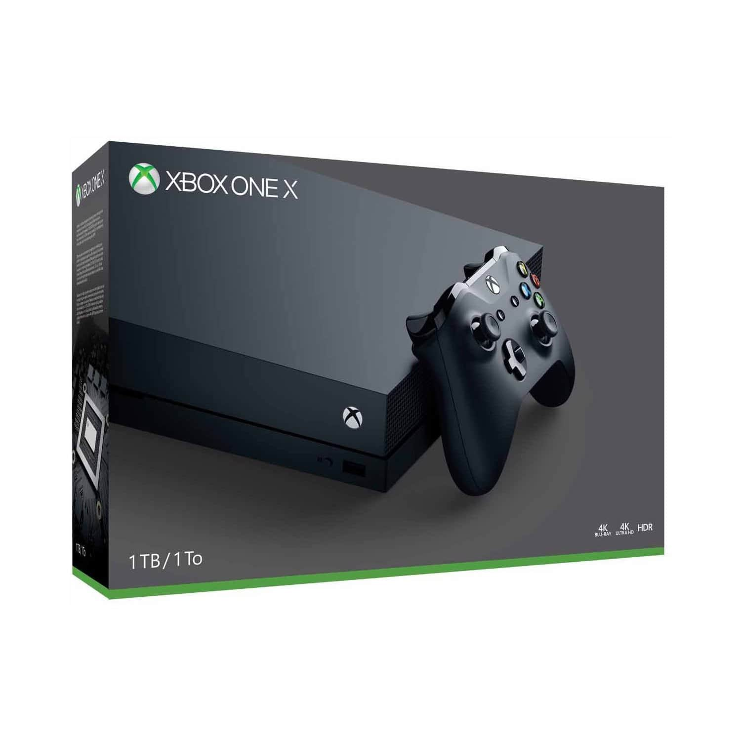 1tb microsoft xbox one x 4k console. Black Bedroom Furniture Sets. Home Design Ideas