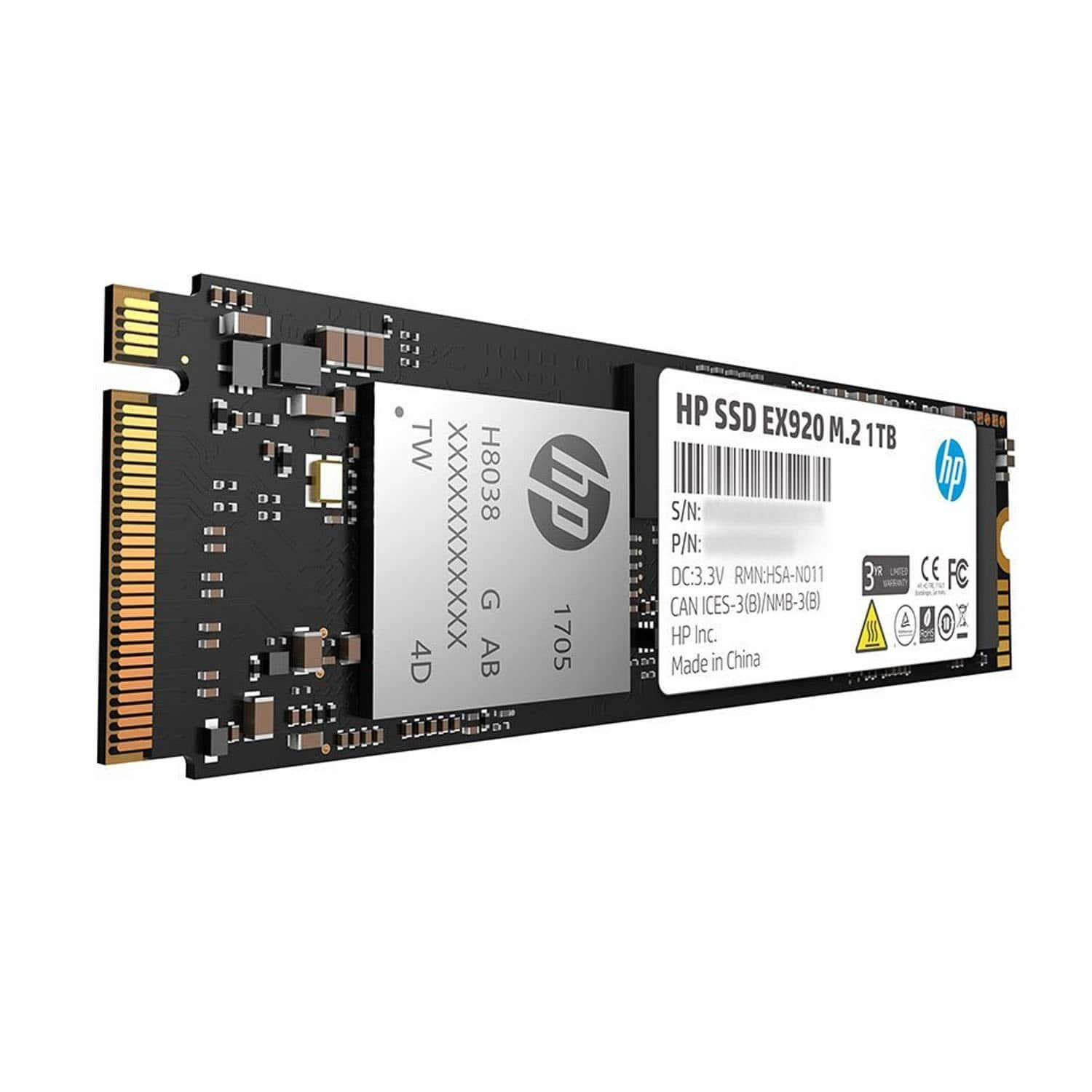 1TB HP EX920 PCIe 3D TLC NAND M.2 Solid State Drive SSD $268.59 + Free Shipping