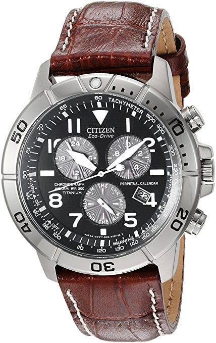 Select Men's Watches: Men's Citizen Eco-Drive Titanium Chronograph Watch $144.99, Citizen Eco-Drive Stainless Steel Watch w/ Brown Strap $54.99 & Many More via Amazon