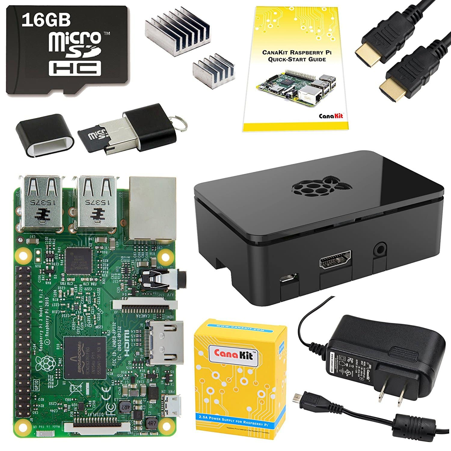 16GB CanaKit Raspberry Pi 3 Complete Starter Kit $49.99 + Free Shipping w/ Prime via Woot