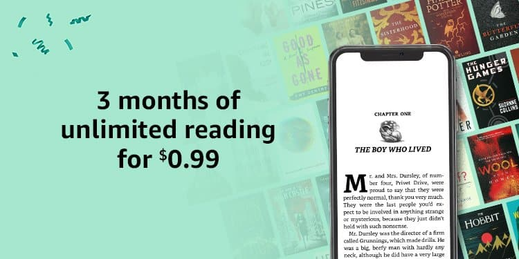 Amazon Prime Members: 3-Months Kindle Unlimited Membership (New Subscribers Only) for $0.99