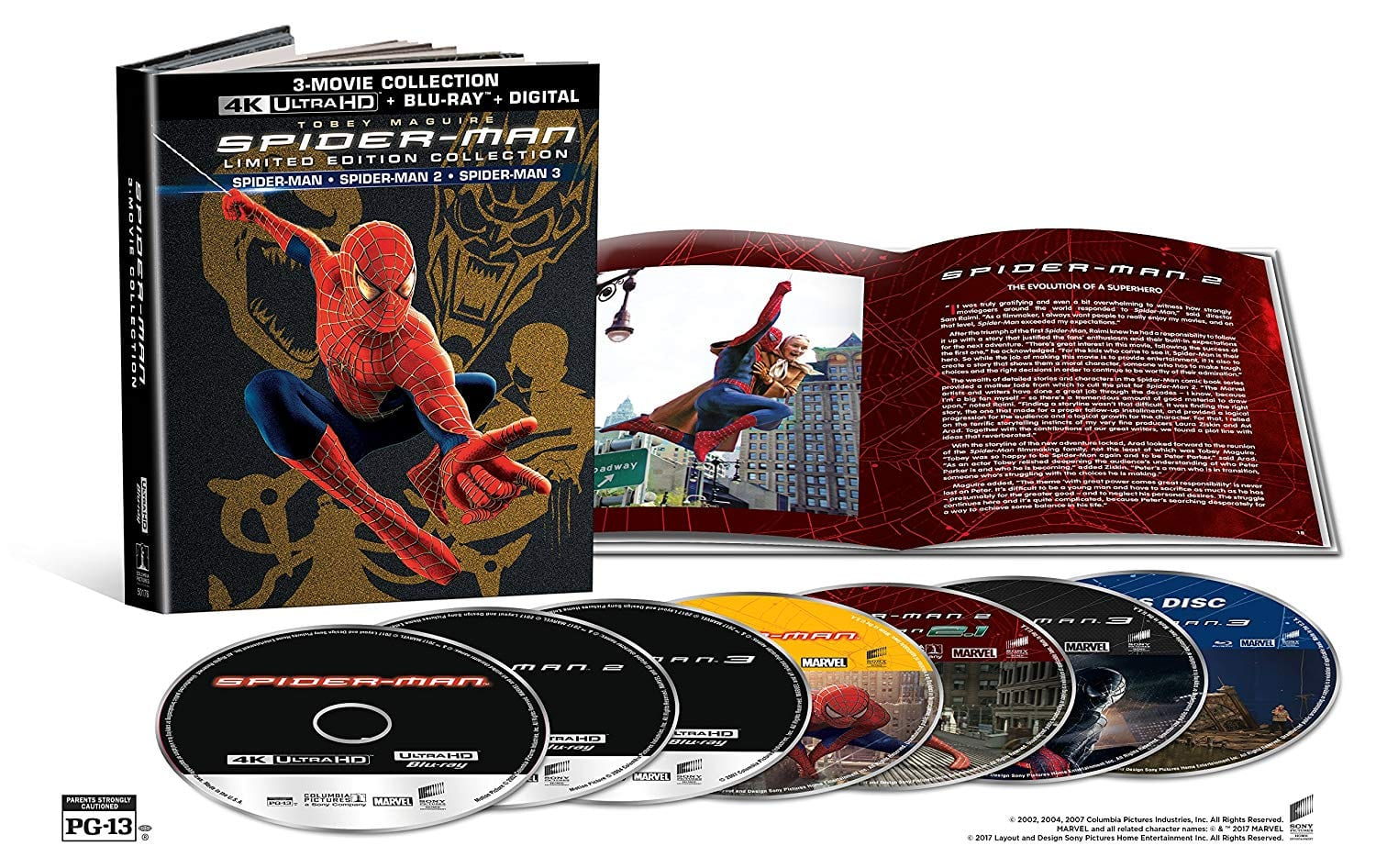 Spider-Man 3-Movie Limited Edition Collection (4K UHD + Blu-Ray + Digital) $34.92 + Free Shipping via Amazon