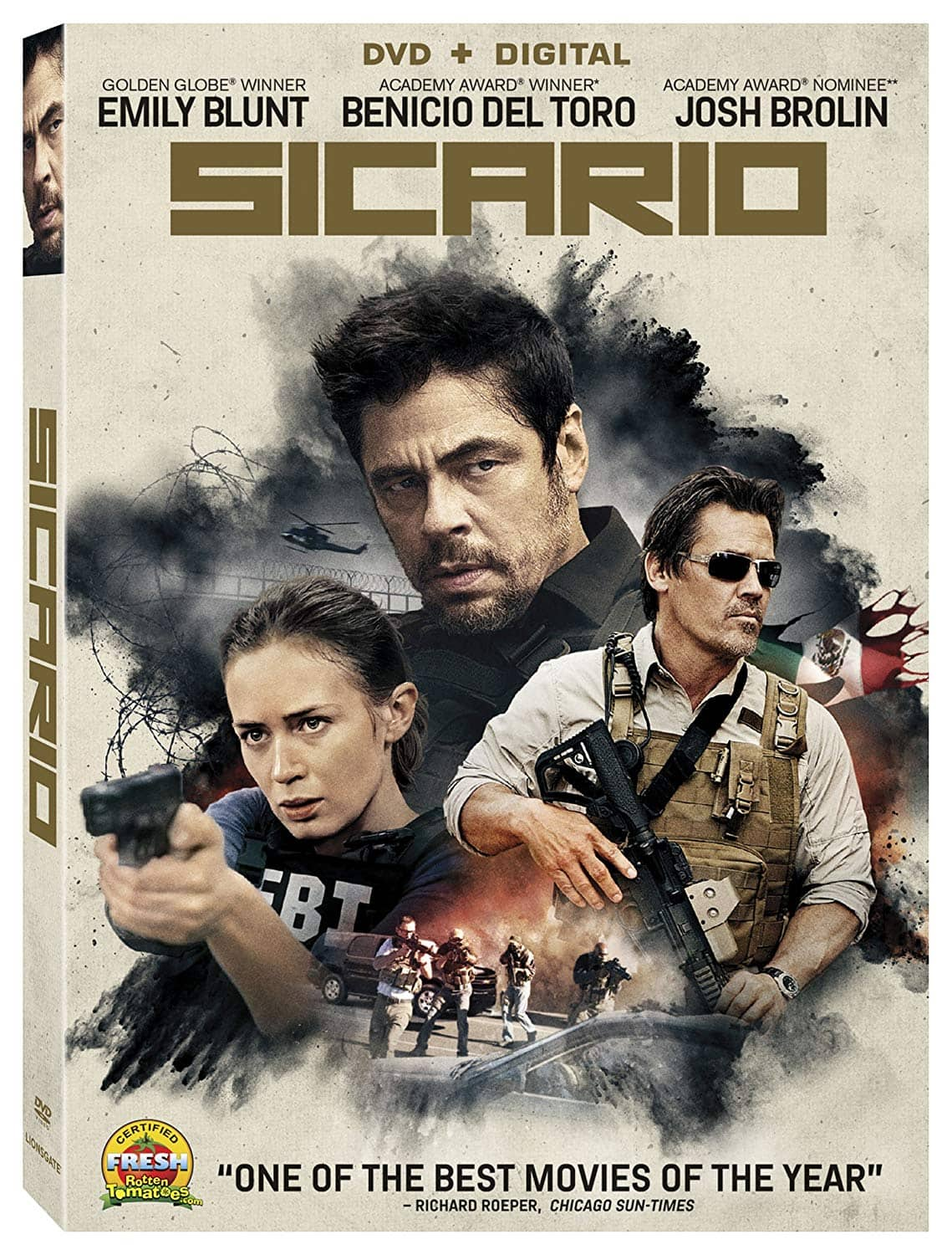 Sicario (DVD + Digital UV) $3.74 + Free In-Store Pickup via Walmart/Amazon