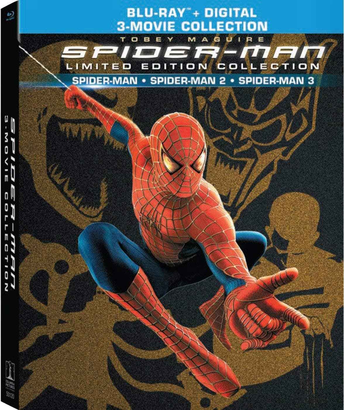 Spider-Man Trilogy Limited Collector's Edition (Blu-Ray + Digital HD) $16.99 via Amazon *Lightning Deal*