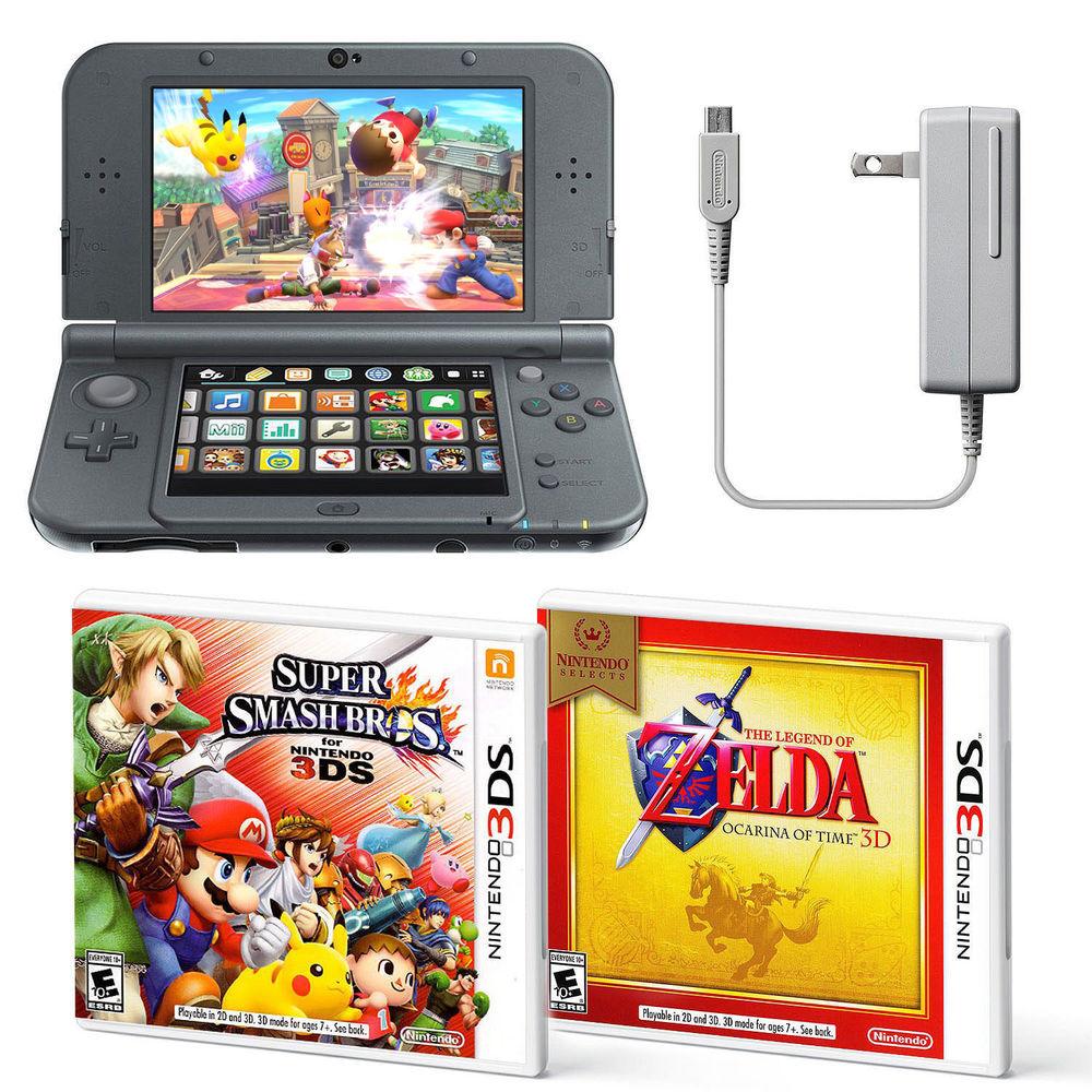 New Nintendo 3DS XL Console w/ Super Smash Bros + Zelda Ocarina (Nintendo 3DS) $164.99 + Free Shipping via eBay
