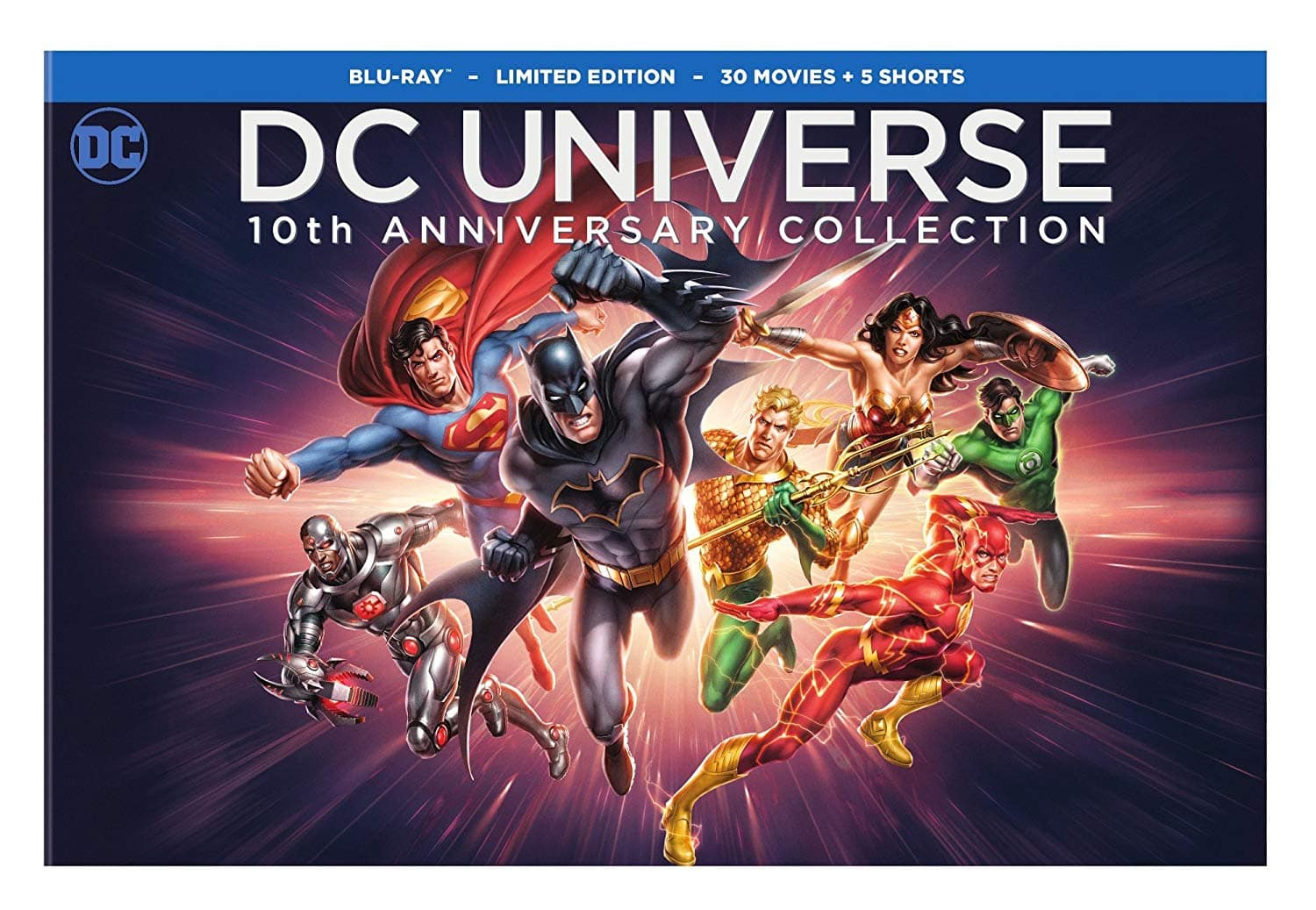 DC Universe Original Movies: 10th Anniversary Collection: 30 Movies + 5 Animated Shorts (Blu-Ray) $99.99 + Free Shipping via Amazon