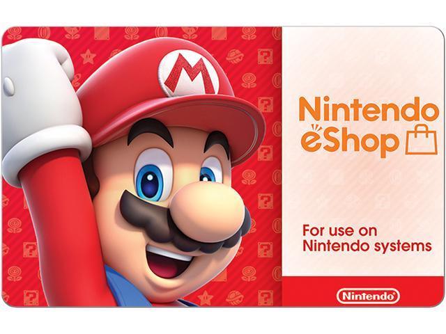 Nintendo eShop Digital eGift Card: $50 GC for $45, $35 GC for $31.50, $20 GC for $18 via Newegg