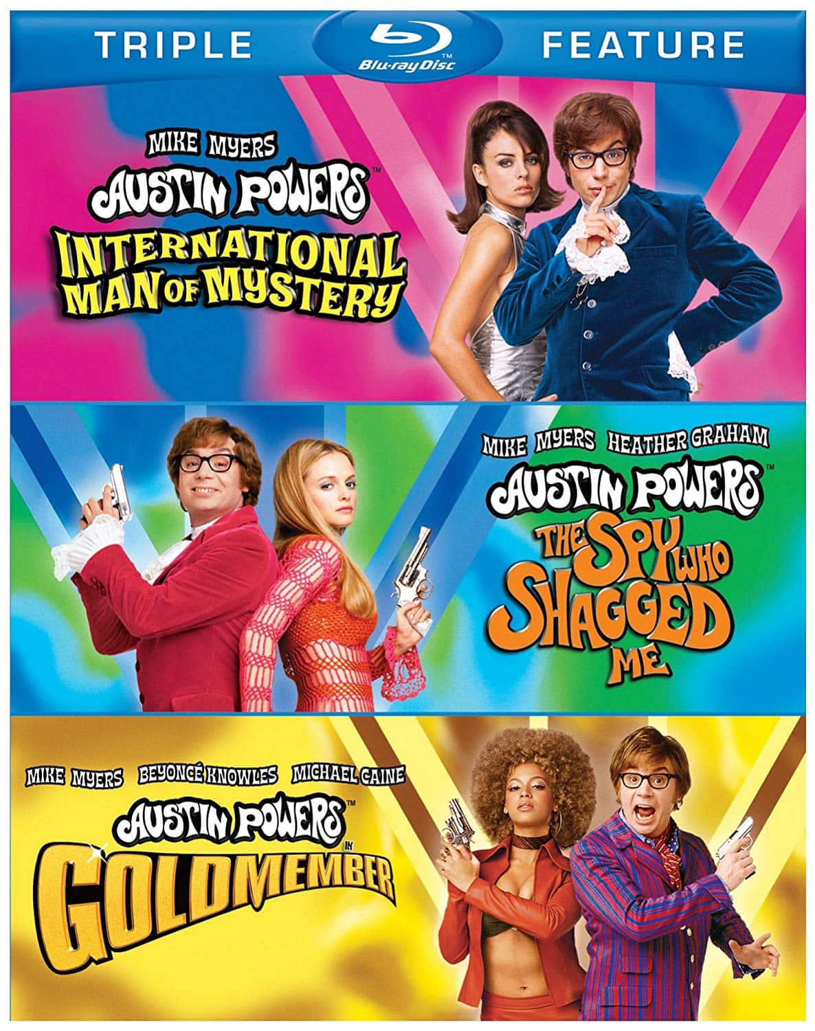 Austin Powers: Triple Feature: International Many of Mystery, The Spy Who Shagged Me & Gold Member (Blu-Ray) $8 + Free Shipping for Amazon Prime Members