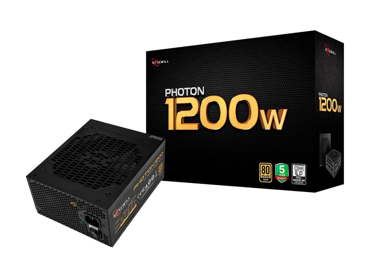 Rosewill Photon 1200W 80+ Gold Certified Full Modular Gaming Power Supply + 6-Outlet Rosewill 125V Power Strip $108.99 (or Less w/ MasterPass Checkout) + Free Shipping via Newegg