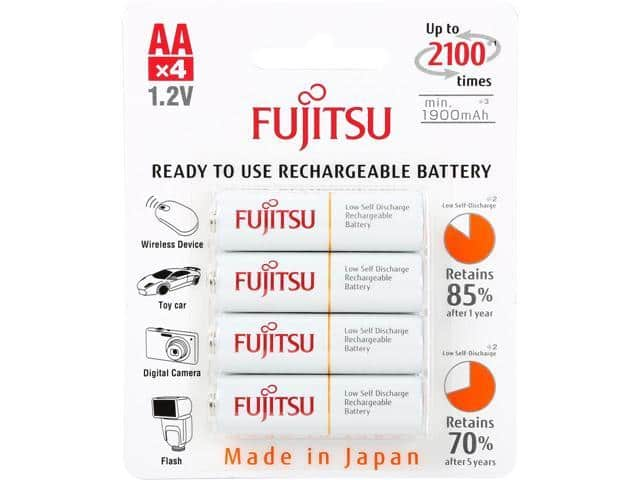4-Pack Fujitsu AA 2000mAh 2100 Cycles Ni-MH Rechargeable Batteries $5 + Free Shipping for Newegg Premier