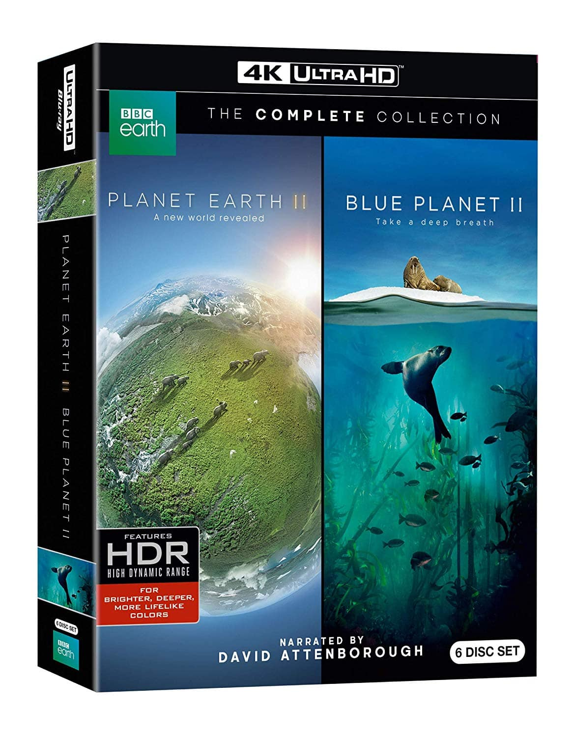 planet earth ii blue planet ii collection 4k uhd blu. Black Bedroom Furniture Sets. Home Design Ideas