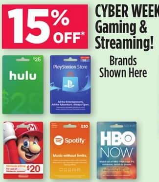 Dollar General Stores: Select Gift Cards: PlayStation Store