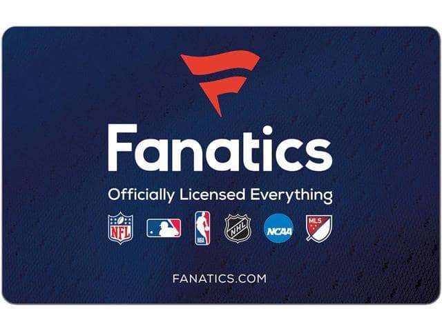 $50 Fanatics Gift Card (Email Delivery) $37 via Newegg