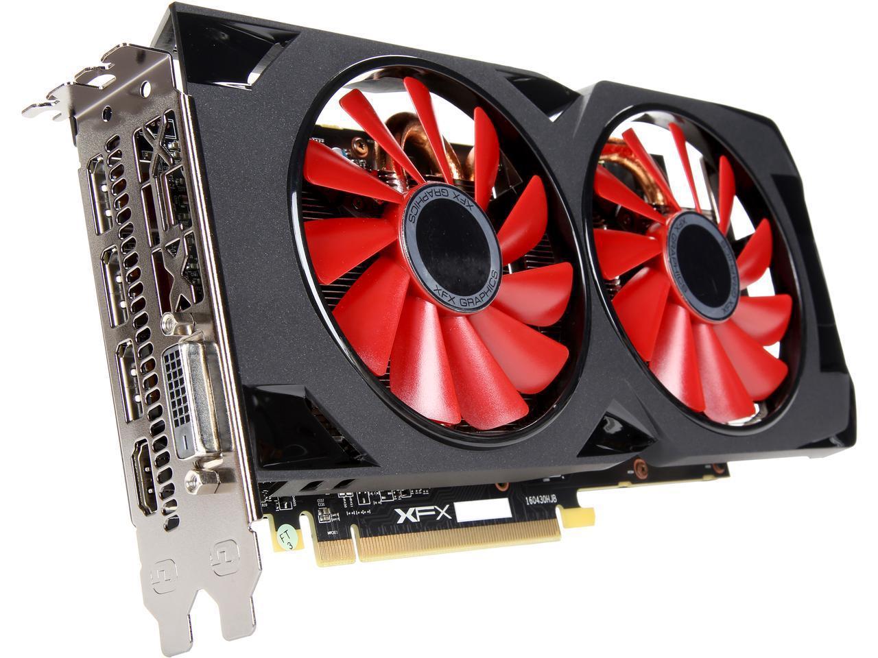 XFX Radeon RX 570 8GB 256-Bit DDR5 PCIE Video Card + 2x ...