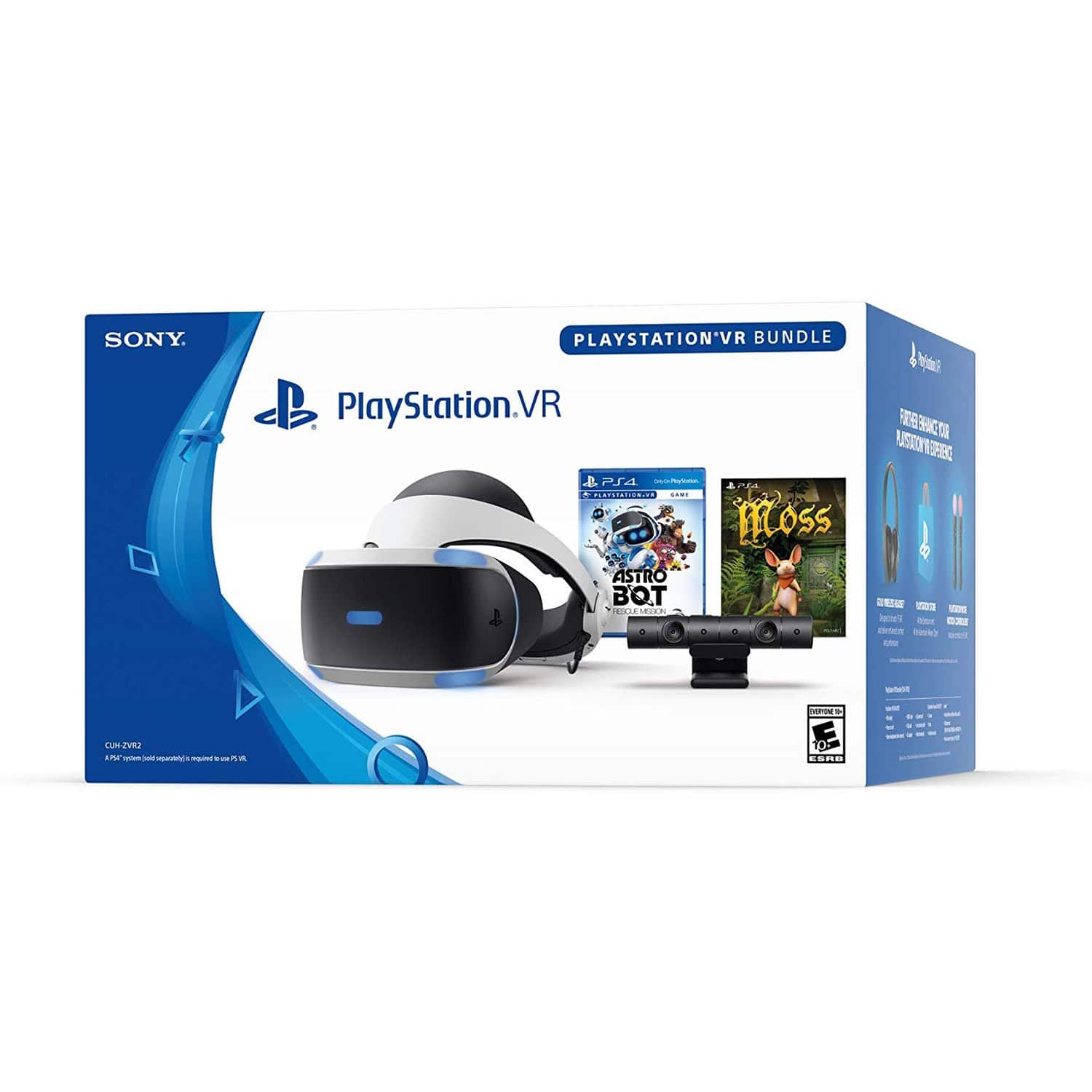 Sony PlayStation VR Bundle w/ Astro Bot Rescue Mission + Moss (PS4) $208.21 AC + Free Shipping