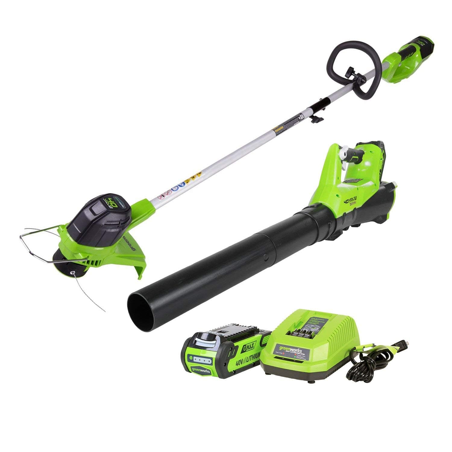 GreenWorks G-MAX 40V Cordless String Trimmer + Blower Combo w/ 40V 2Ah Li-Ion Battery/Charger $127.99 + Free Shipping via Amazon