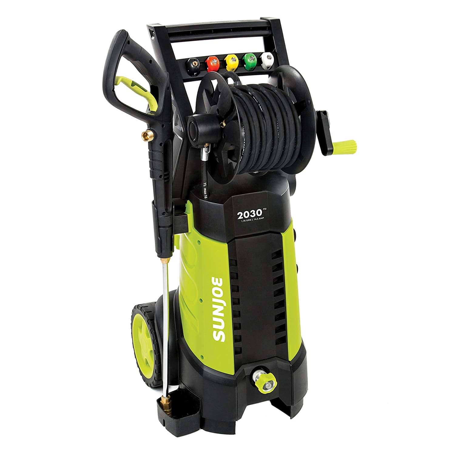 Sun Joe SPX3001 2030 PSI 1.76 GPM 14.5 AMP Electric Pressure Washer w/ Hose Reel (Green) $115.99 + Free Shpping via Amazon