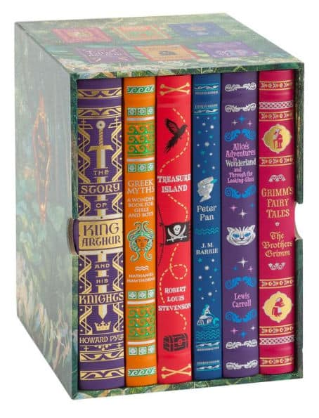 Children's Collectible B&N Editions Hardcover Bonded Leather Boxed Set: Treasure Island, Peter Pan, Grimm's Fairy Tales & More $25 + Free In-Store Pickup via Barnes & Noble