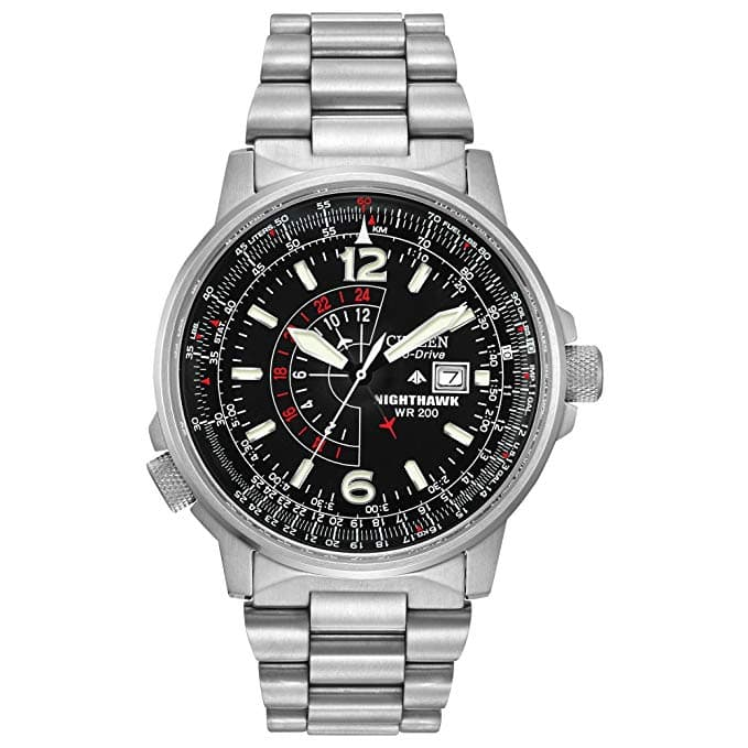 Men's Watches: Men's Citizen Eco-Drive Promaster Nighthawk Dual Time Watch $141.99, Men's Citizen Eco-Drive Chonograph Stainless Steel Watch $127.99 & More via Amazon