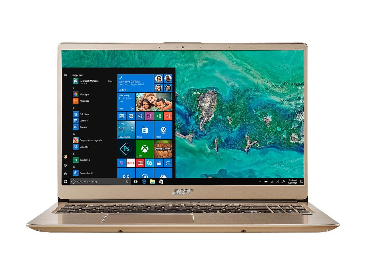 "Acer Swift 3 Laptop: i7 8550U, 15.6"" 1080p, 8GB RAM, 256GB SSD, Intel UHD 620, Win 10 + $30 Newegg Promo Gift Card $529.99 + Free Shipping via Newegg"