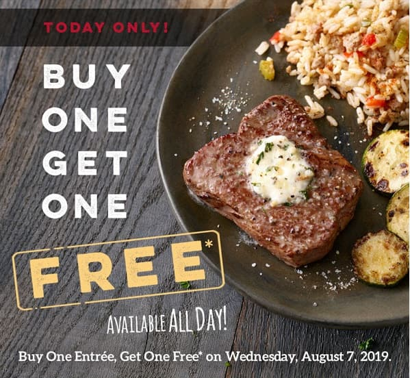 Ruby Tuesday Restaurant: Printable Coupon for Buy One Adult Entree & Get One Free (Valid 8/7 Only)