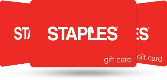 $110 Staples eGift Card (Email Delivery) for $100 via PayPal