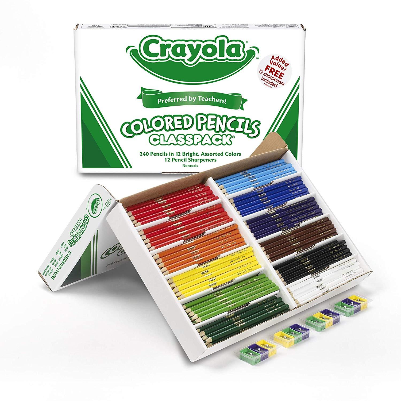 Crayola BTS Essentials Products: 336-Ct Crayola Oil Pastel Classpack $22.10, 240-Ct Crayola Colored Pencils $20.31, 12-Ct Crayola Take Note Perm. Markers $3.89 & More via Amazon