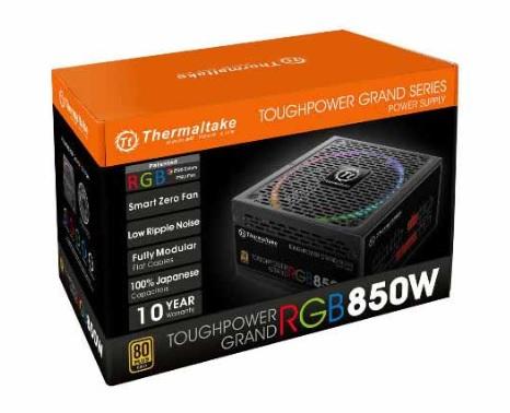 Thermaltake Toughpower Grand 850W RGB Fully Modular 80+ Gold Power