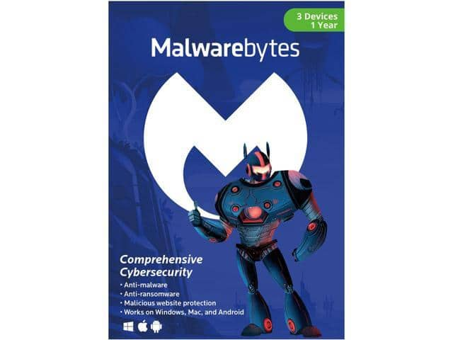 Malwarebytes Anti-Malware 3.0 (3 PCs/1-Year Key Card) $21.99 + Free Shipping via Newegg