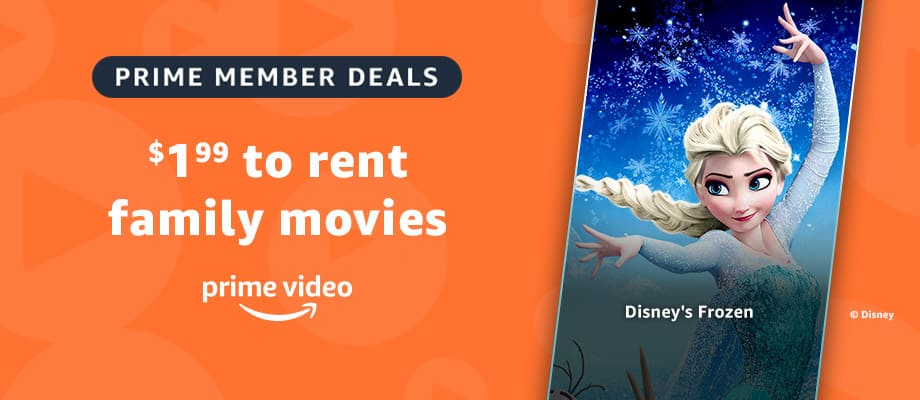 Amazon Prime Members: $1.99 Disney Movie Rentals: Frozen, Moana, Tangled, Toy Story 1-3, Zootopia, Inside Out, Brave, Up, Cars, Ratatouille, Finding Nemo & More