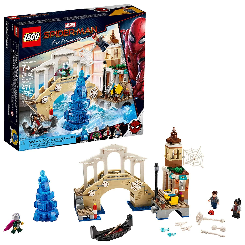 LEGO Sets: 375-Piece LEGO DC Batman: Batman Mech vs. Poison Ivy Mech Set $23.99 or 471-Piece LEGO Marvel Spider Man FFH: Hydro-Man Set $20.97 via Amazon