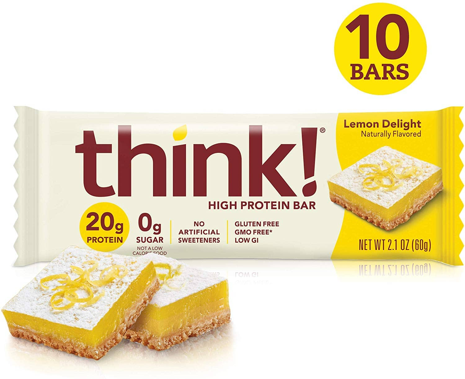 10-Count 2.1oz. think! High Protein Bars (Lemon Delight) $7.70 w/ S&S + Free Shipping via Amazon