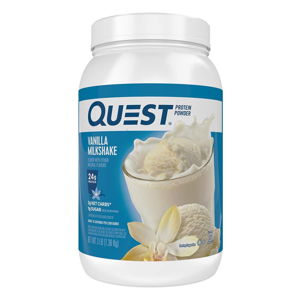 3 Lbs. Quest Nutrition High Protein Powder (Vanilla Milkshake) $26.92 w/ S&S + Free Shipping via Amazon