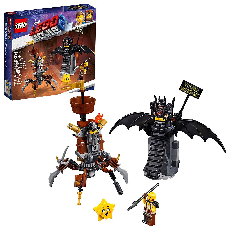 168-Piece LEGO: The LEGO Movie 2: Battle Ready Batman and MetalBeard Building Set $11.99 via Walmart/Amazon