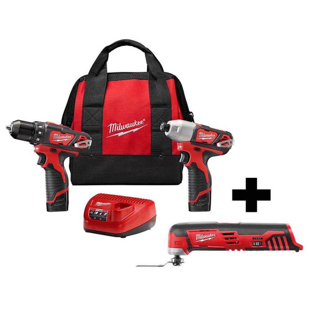 Milwaukee Tools: M12 12V Drill Driver/Impact Driver w/ M12 Oscillating Tool $129 & Much More + Free S/H