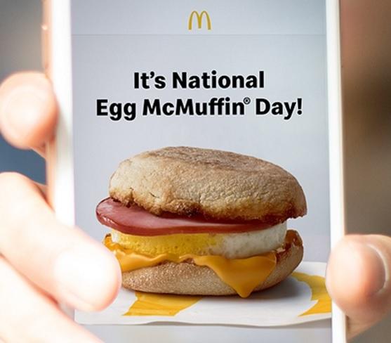 McDonald's Restaurant: Egg McMuffin Sandwich