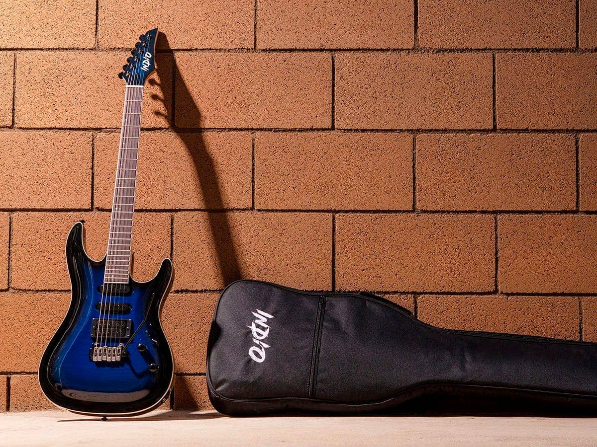 Monoprice Indio Helix Flamed Maple Electric Guitar w/ Gig Bag (Blue Burst) $129.99 + Free Shipping via Monoprice