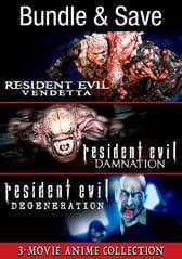 Resident Evil: The Animated Triple-Feature Collection (Digital HDX Films) $9.99 via VUDU