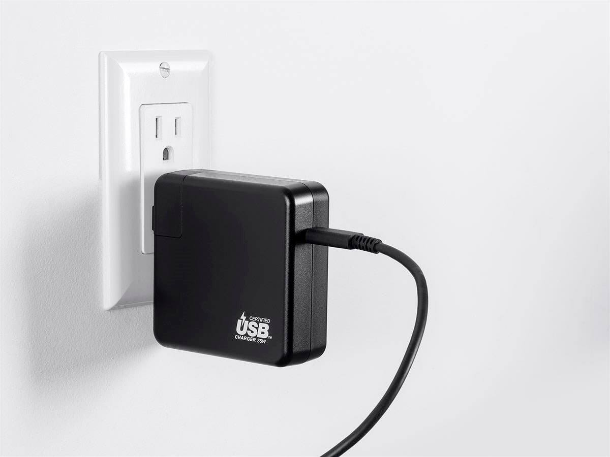 Monoprice Obsidian Speed 1-Port 85W PD USB Wall Charger w/ 6'  USB Type-C Cable $35 + Free Shipping via Monoprice *Price Drop*