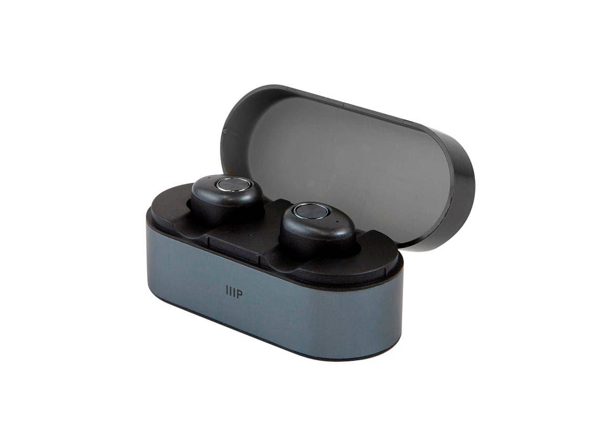 Monoprice TrueWireless Blueooth 5.0 Earphones w/ Mic/Charging Case (Black) 2 for $40 + Free Shipping via Monoprice