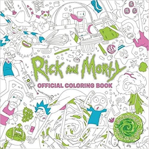 Adult Coloring Books: Rick and Morty Official Coloring Book $6.18 or Nickelodeon: The Splat: Coloring the '90s $5.57 via Amazon