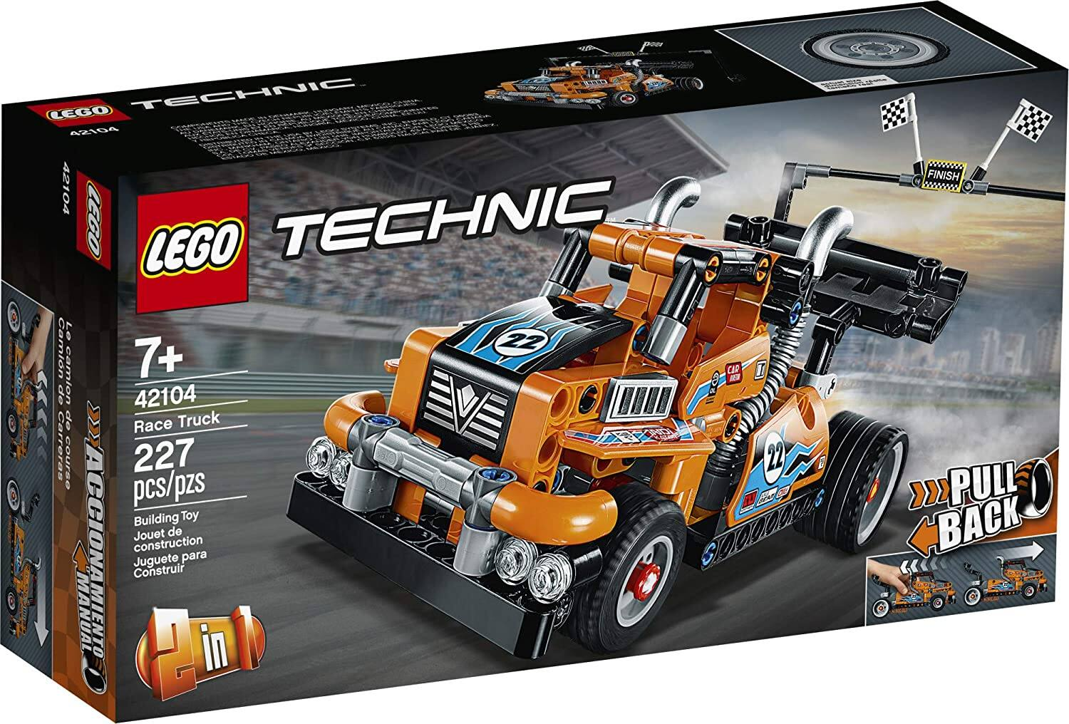 227-Piece LEGO Technic Race Truck Pull Back Building Kit $14 + Free S/H on $35+