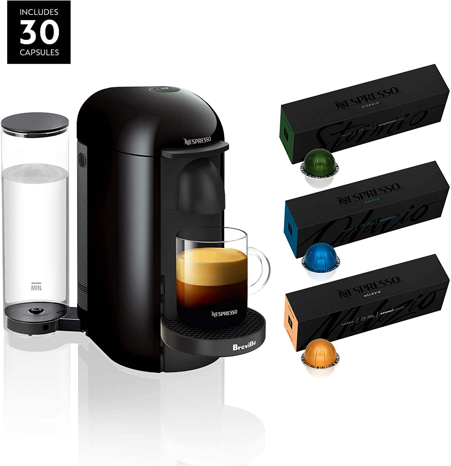 Breville Nespresso VertuoPlus Coffee and Espresso Maker + 30-Count Nespresso VertuoLine Coffee Pods Variety Pack $109.99 + Free Shipping via Amazon