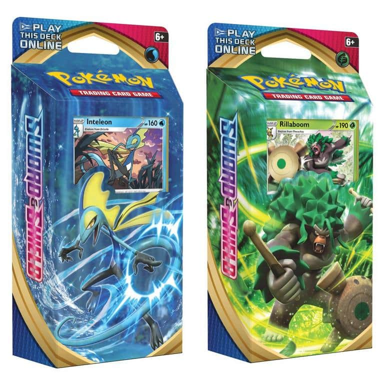 Pokemon Trading Card Game TCG: Sword and Shield Deck (Inteleon or Rillaboom) $8 + Free Curbside Pickup via GameStop